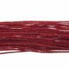 Metallic Braided Cord 2mm 12m Red